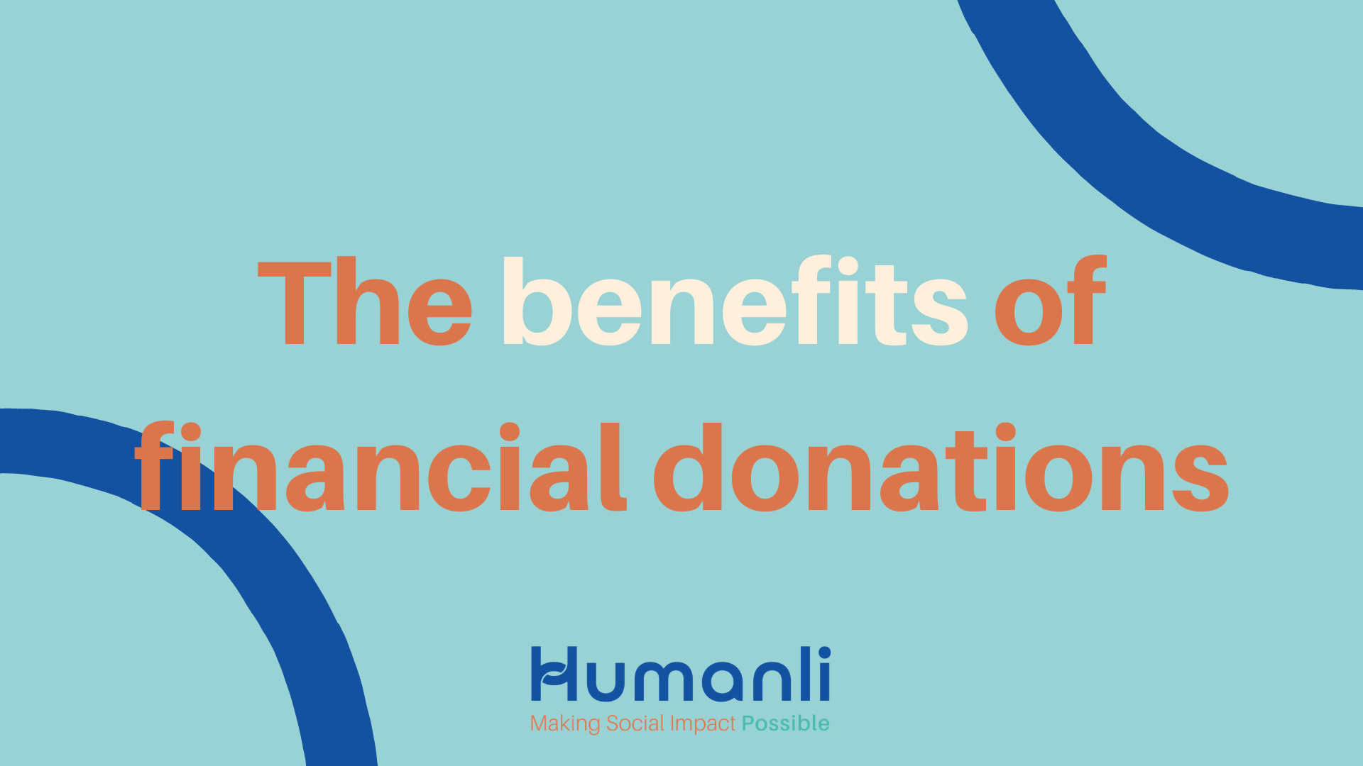 Here are the top four benefits of financial donations